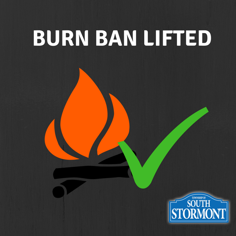 Burn Ban Lifted Poster. Campfire with green check mark