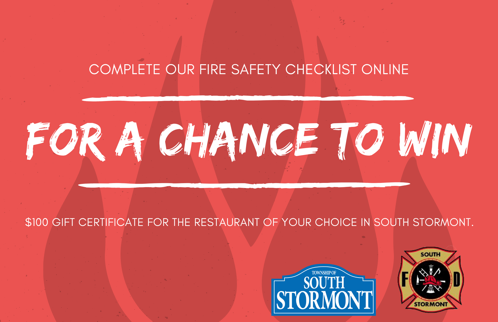 Fire Safety Checklist Contest Poster