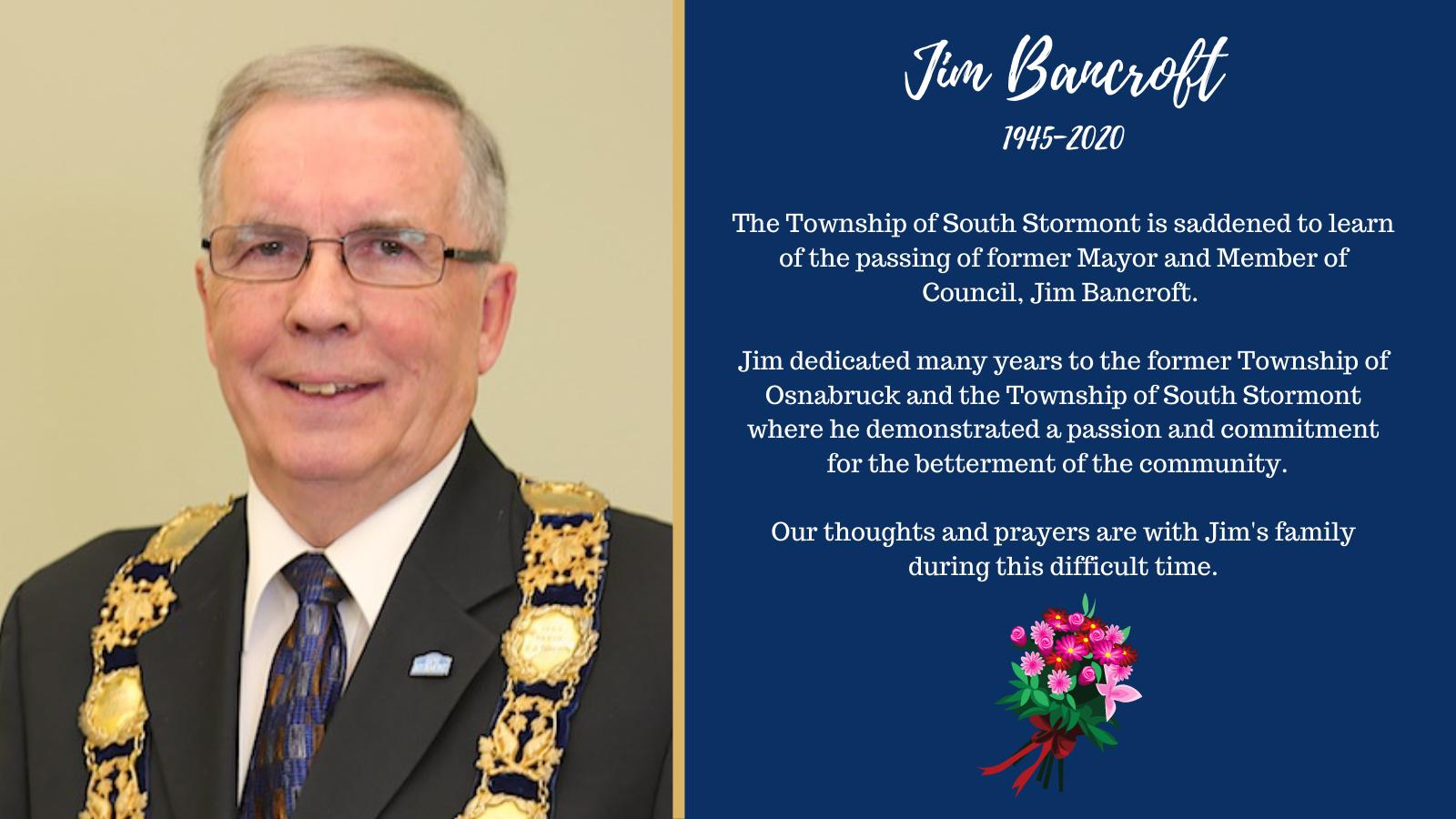 Mayor Jim Bancroft Notice of Passing